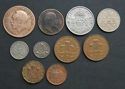 Great Britain Lot Of 10 Coins