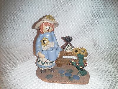 Raggedy Ann Gardening Resin Figurine Watering Can Birdhouse  Andy Collector