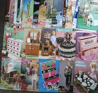 70 Plastic Canvas Fashion DOLL PATTERN / PATTERNS ~ Furniture, Decor ~ Mixed Lot