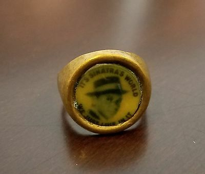 Vintage Frank Sinatra Adjustable Ring Gumball / Toy / Advertising 1960's