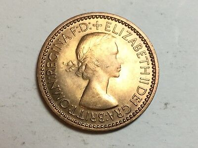 GREAT BRITAIN 1953 farthing coin uncirculated