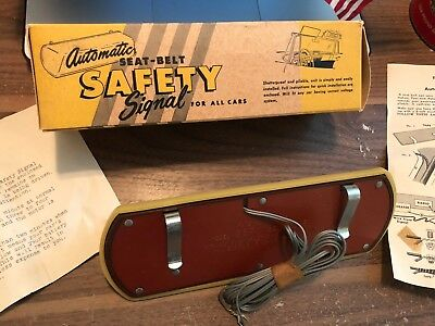 Lighted Automatic Seat Belt Signal Vintage Original Part NOS new old stock