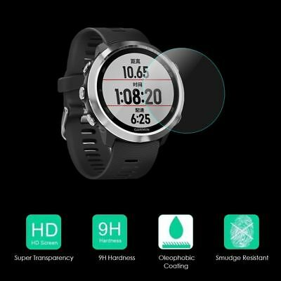 9H Tempered Glass Screen Protector Film Cover Fr Garmin Forerunner 645 GPS Watch