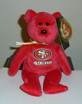 Ty Beanie Baby ~ SAN FRANCISCO 49ers the NFL Football Bear 8