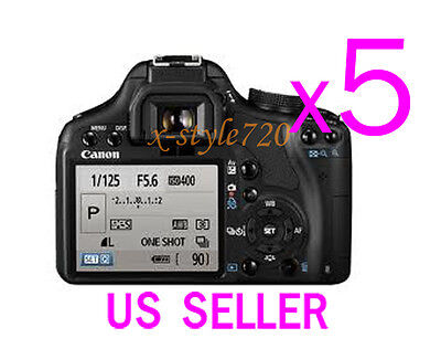 5x Clear LCD Screen Protector Guard For Canon EOS 500D Rebel T1i