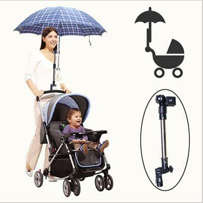 Umbrella Bar Holder Bicycle Stroller Chair Mount Stand Bracket Accessories Clamp