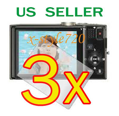 3x Clear LCD Screen Protector Guard Film For Nikon Coolpix S8200 Digital Camera
