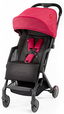 Diono Traverze Plus Lightweight Compact Fold Baby Travel Stroller Pink with Bag