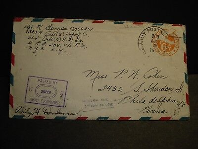 APO 208 HILSEA, ENGLAND 1944 Censored WWII Army Cover 3254 ORD (B) Depot Co
