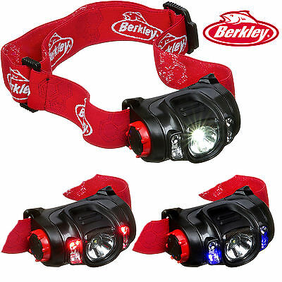 Berkley Led Kopflampe / Stirnlampe Uv+Red+White Led´s Wasserdicht