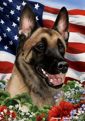 Large Indoor/Outdoor Patriotic I Flag - Belgian Malinois 16251