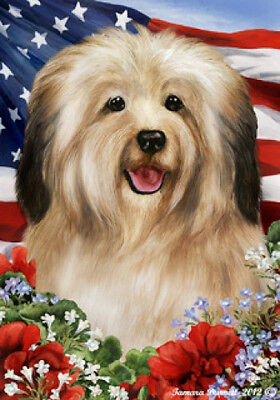 Large Indoor/Outdoor Patriotic I Flag - Cream Havanese 16097