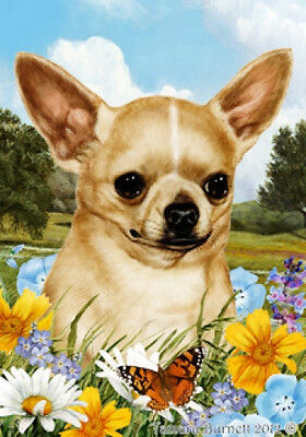 Large Indoor/Outdoor Summer Flag - Shorthaired Chihuahua 18046