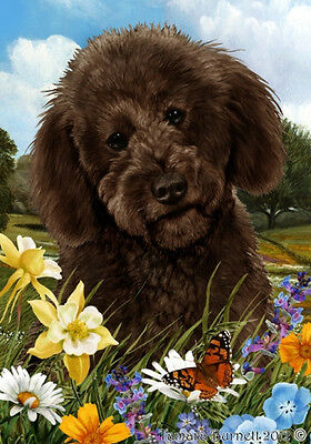 Large Indoor/Outdoor Summer Flag - Chocolate Labradoodle 18273