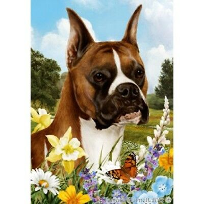 Large Indoor/Outdoor Summer Flag - Fawn Boxer 18026