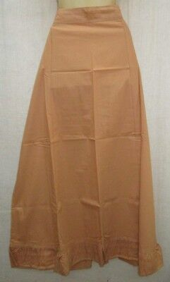 Biscuit Pure Cotton Frill Petticoat Skirts Sari XL Plussize Italy female #96WBD