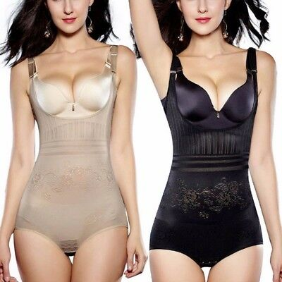 39d291ee2d2 Women Full Body Waist Trainer Bodysuit Shaper Underbust Corset Cincher  Shapewear