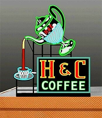Miller's H & C Coffee Animated Neon Sign # 7881