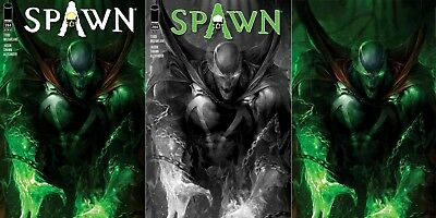 Spawn #284 Mattina Variants Set (Cover A, B, C - B&W, Virgin)
