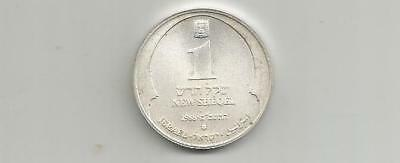 NCOFFIN REPUBLIC OF ISRAEL HANUKKA NEW SHEQEL JE-5749 1988 (u) .850 FINE