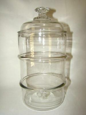 Antique 19thc. APOTHECARY Hand Blown Pontil Banded GLASS JAR BOTTLE