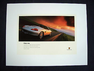 """Porsche Official Boxster """" Map """" Factory Showroom Poster 1997 New Usa"""