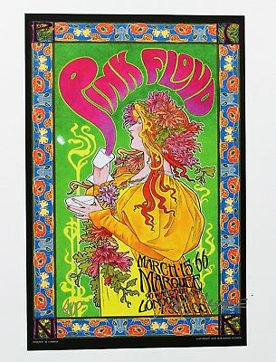 Pink Floyd Rock Poster Mini Marquee London Hand Signed Masse Artist's Proof