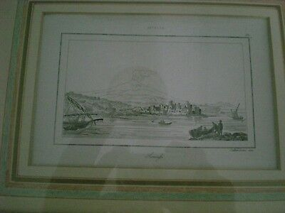 Antique Print Of Siracusa Sicilly Dated 1790, Professionally Framed