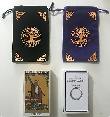 A.E.Waite Original Tarot Cards NEW & SEALED++FREE VELVET TREE of LIFE POUCH+
