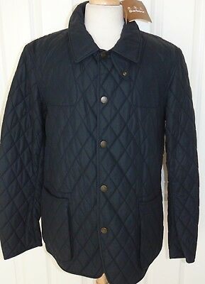 """NWT  Barbour  """"Birch""""  Oilskin Collection Limited Edition  Navy Blue Jacket  2XL"""