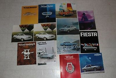 Vintage Lot of  Car Brochures Ford Mustang Torino and More Full Line Auto Ads