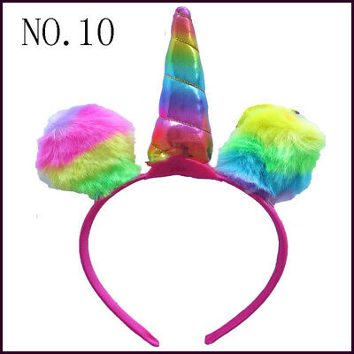 "20 BLESSING Good Girl DIY  6"" Unicorn Hair Bow Pony Headband"