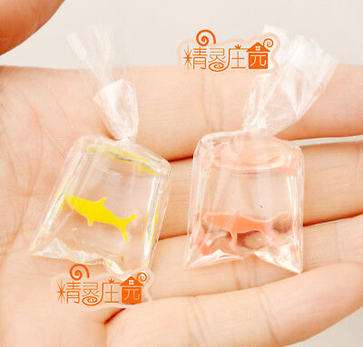 A bag of little red & Yellow fishs Home Decoration  Dollhouse Miniature 1:12