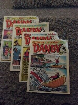 Four The Dandy Comics From 1991 Nos 2565, 2569, 2570 & 2574