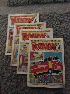 Four The Dandy Comics From 1990 Nos 2521, 2523, 2524 & 2535