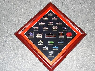 Wwe Limited Edition 20 Years Of Wrestlemania Commemorative Framed Pin Plaque