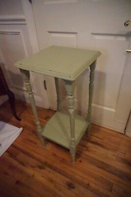 Vintage Shabby Green Accent Table