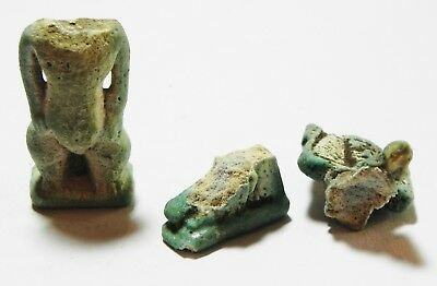 Zurqieh - As5999- Ancient Egypt, Lot Of 2 Amulets. As Shown. 600 - 300 B.c
