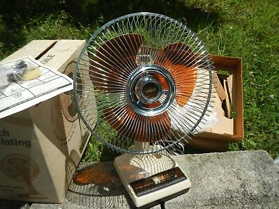 "Vintage NOS Galaxy Fan 12"" Model 2150 C Oscillating 3 Speed ""COLLECTOR ITEM"""