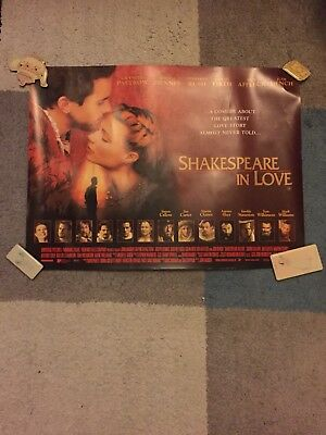 Shakespeare In Love X 2 Film Posters Fiennes Paltrow