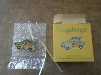 Longaberger Basket SURFS UP Tie On 2001New in Box