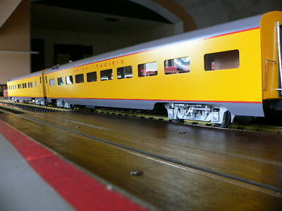 accucraft 2er set union pacific pullmanwagen aus metall in ovp spur1-1/32