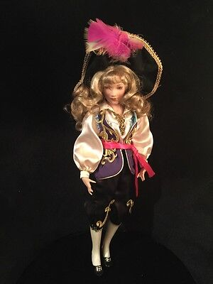 """Paradise Galleries Doll 19"""" Patricia Rose porcelain Long Jeanne Silver Pirate"""