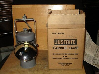 Miners/Cavers JUSTRITE 3-204 HAND LAMP-NEW/OLD STOCK!
