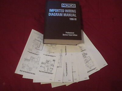 1998 1999 mazda miata wiring diagrams schematics set