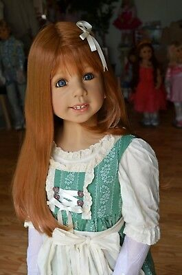 Masterpiece Dolls Jill Strawberry Blonde Wig Fits up to 20- Inch Head