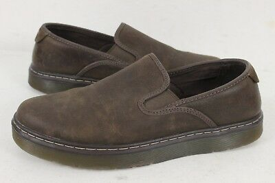 b757ca96de933 DR MARTENS MENS Durham Brown Leather Slip-On Loafer Shoes Size 11 M ...