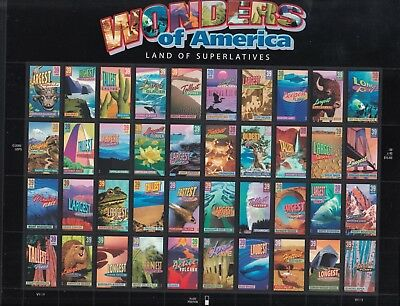 UNITED STATES 2005 WONDERS OF AMERICA Sheet of 40, Mint Never Hinged