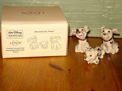 Lenox Disney 101 Dalmatian Trio Puppy Dog Figurine Set NEW in Box