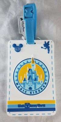 Disney Parks WDW Magic Kingdom Travel Luggage Tag Bag Suitcase PVC - NEW